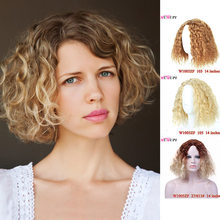 MUMUPI black golden ombre color high quality Short Curly Wig Fashion Women Sale with bangs Natural Short water wave Hair Wigs(China)