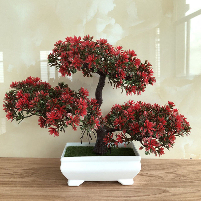 toyofmine Fake Artificial Bonsai Pine Tree Home Decor