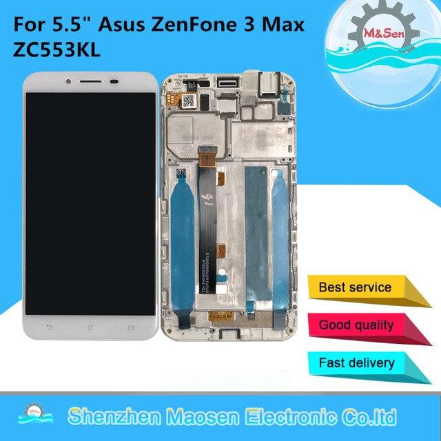 """5.5 """"オリジナル m & セン asus zenfone 5 3 最大 ZC553KL 液晶画面ディスプレイ + タッチパネルデジタイザフレーム asus ZC553K lcd ディスプレイ"""