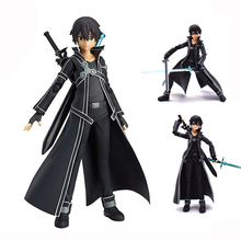 купить Anime Sword Art Online Kirito Model PVC Action Figure Kids Toy Cosplay Collection Gift Free Shipping дешево