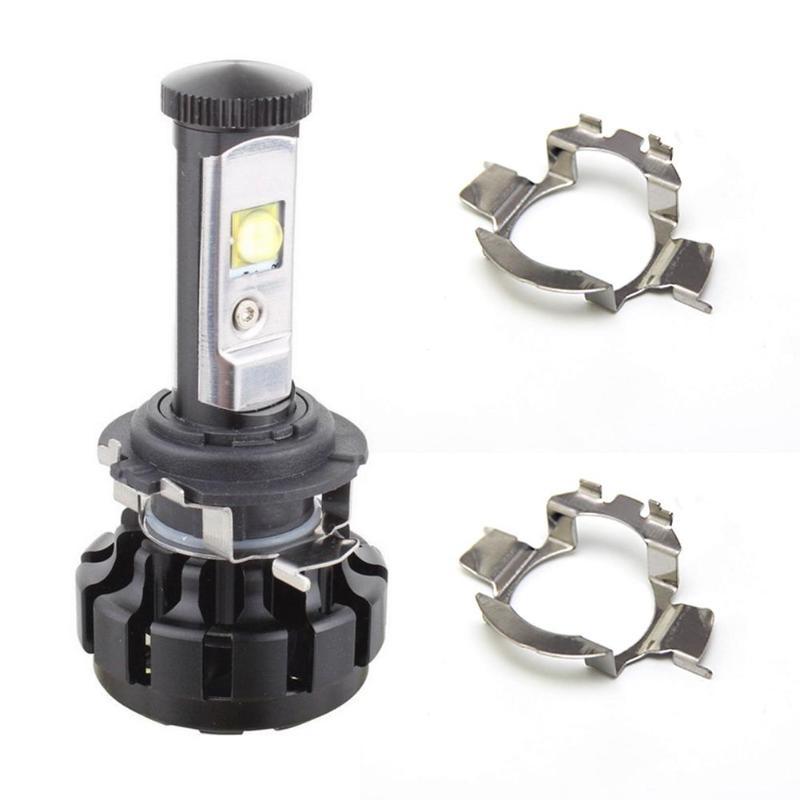 2Pcs H7 LED Car Headlight Bulb Base Holder Adapter Socket For Mercedes-Benz BMW Audi Auto Headlamp Mount Stand For Nissan