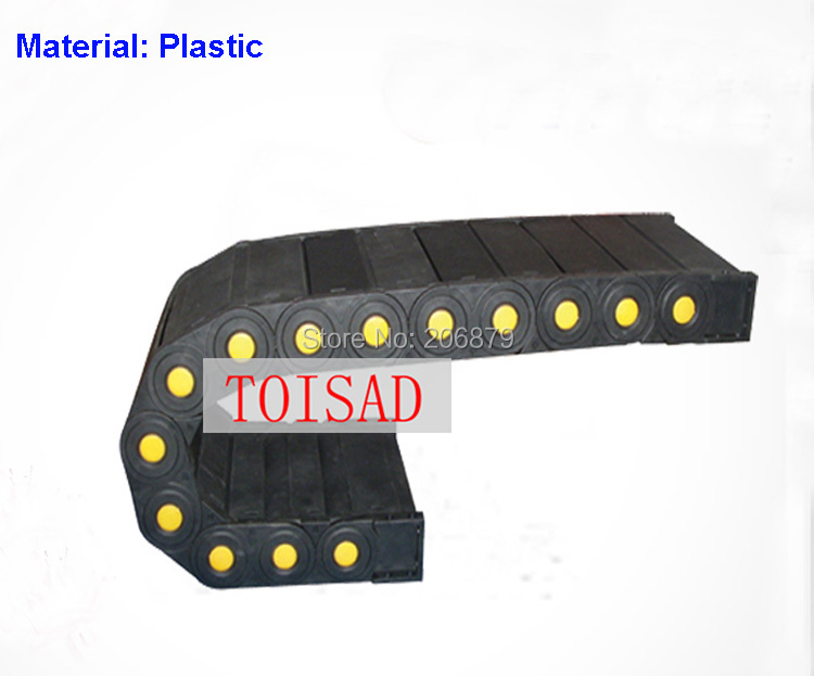 45x120 10M Transmission Chains Closed Fully Enclosed Plastic Towline Cable Drag Chain Bending Radius R 75