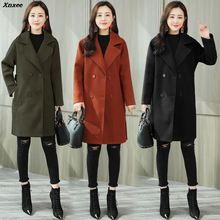 2018 New Hot Sale Woman Wool Coat High Quality Winter Jacket Women Woolen Long Cashmere Coats Elegant Double Breasted Jackets все цены