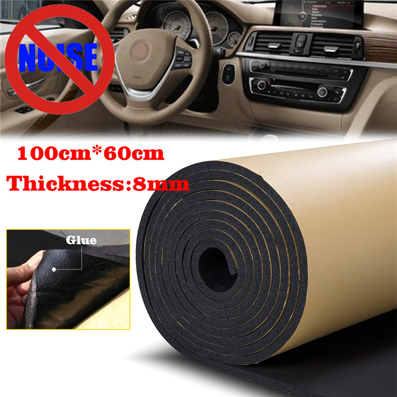 60cmx100cm  8mm Auto Sound Insulation Pad Soundproof Firewall Directly Pasted Noise Isolating Deadener Insulation For The Car