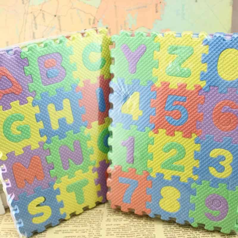 36 個スモールソフトマットベビーゲーム演奏クロール RugsAlphabet & 数字ベビーキッズ教育ベビー保護