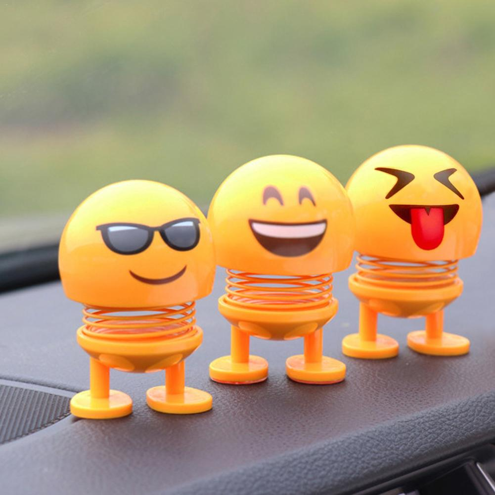 Emoji Figures Shaking Head Doll Car Ornaments Cute Funny Toy Antistress Toy Swinging In Emoji Figures Funny Toy