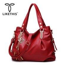 LIKETHIS Leather Handbags Women Fashion Portable Shoulder Messenger Bags Totes Designer Crossbody Hardware Ornaments Solid 2019