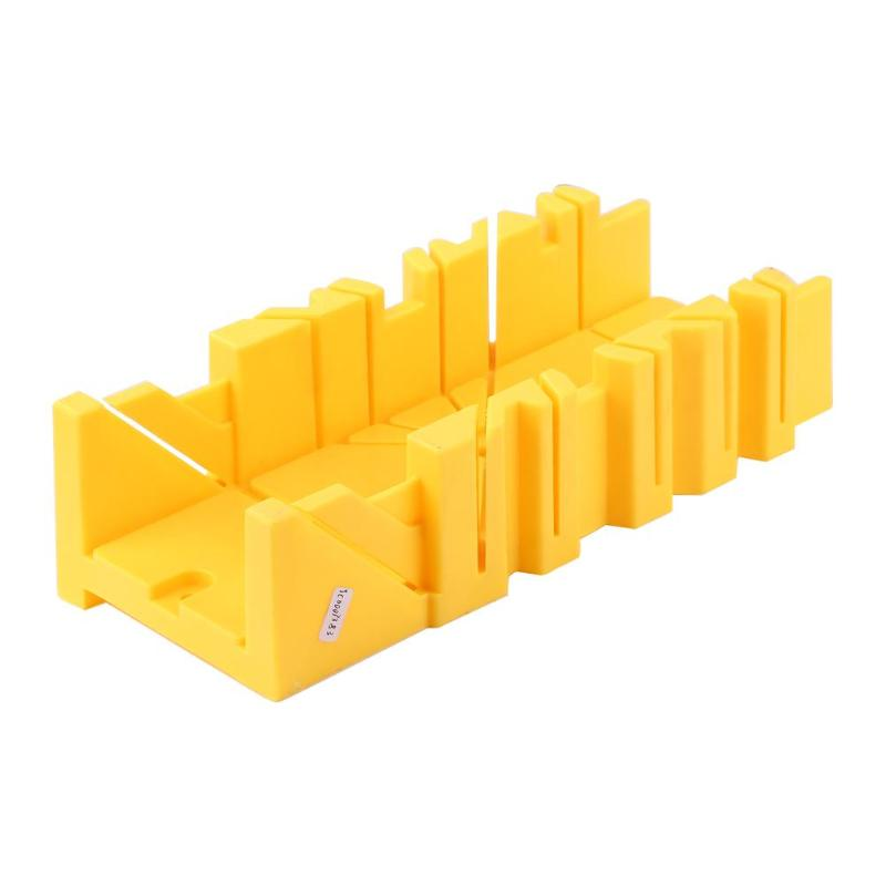 45/90 Degree Saw Box Wood Cutting Clamping Miter Saw Box Cabinet Case Woodworking Angle Cutting,300X90mm For Wood Tile