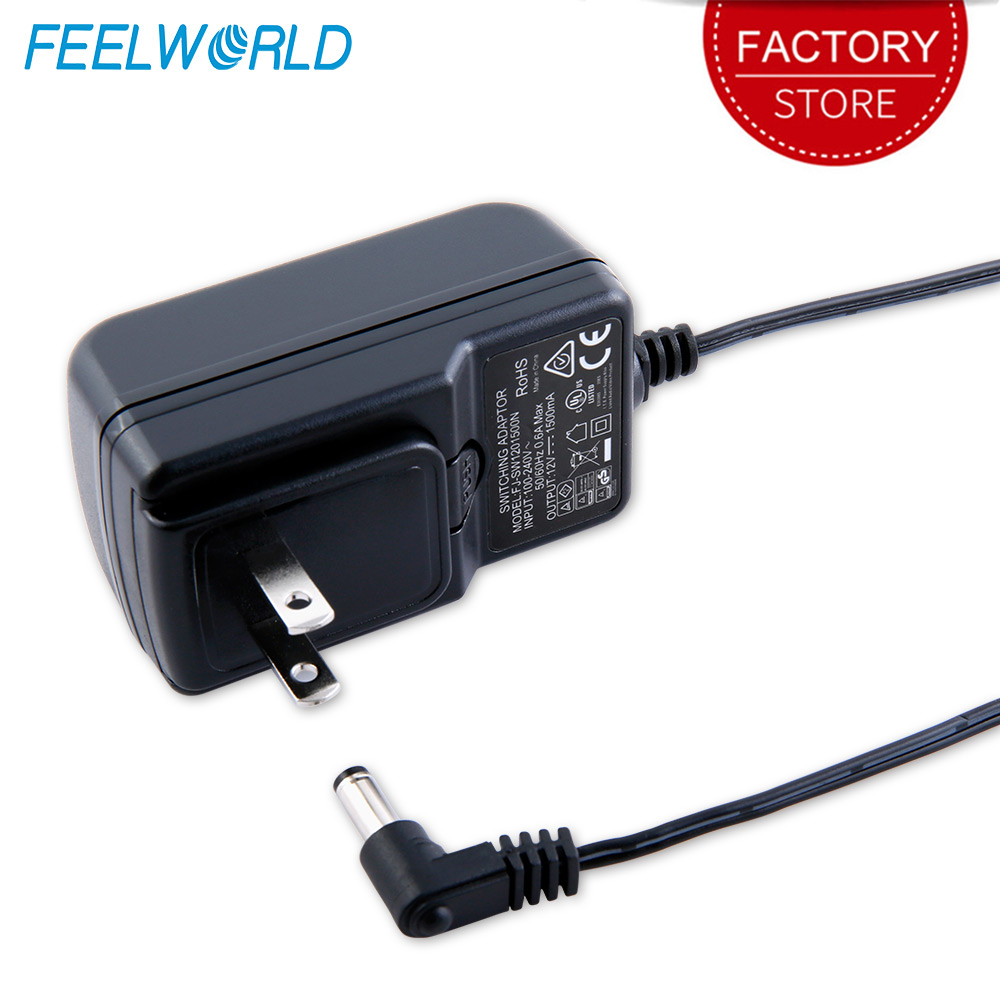 Feelworld DC <font><b>12V</b></font> <font><b>1.5A</b></font> <font><b>Power</b></font> Adapter Switching <font><b>Power</b></font> <font><b>Supply</b></font> Home for 100V 240V 50/60Hz for Feelworld F570 T7 FW703 FW759 S55 image