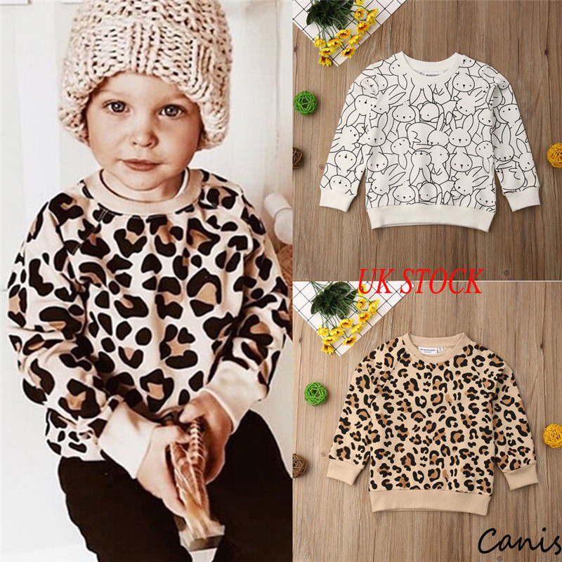 Outfits Sweatshirt Long-Sleeve Leopard Spring Toddler Baby Baby-Boy-Girl Autumn Kid 1-7Y
