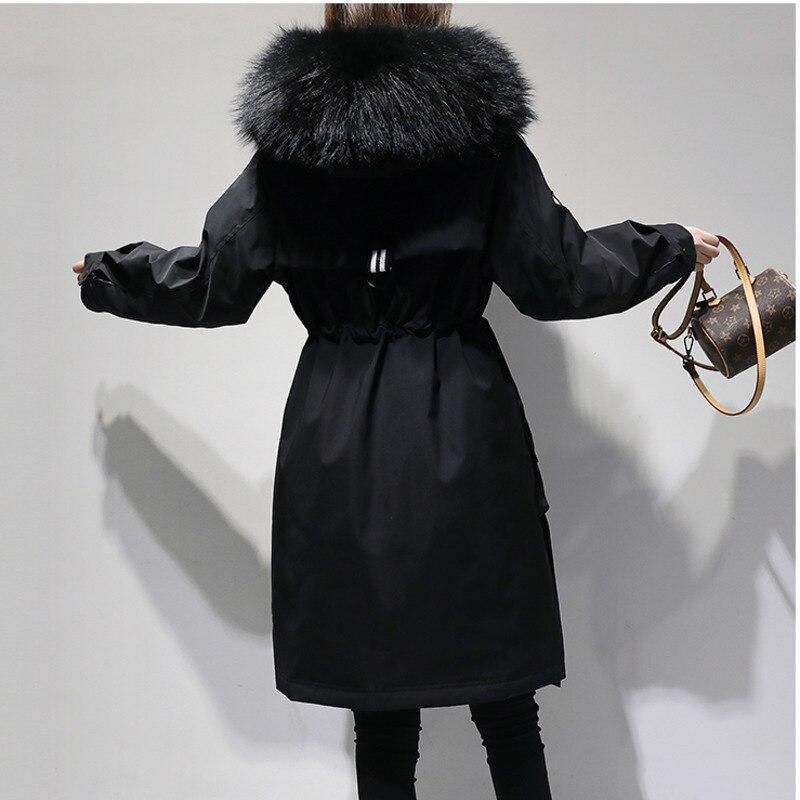 5xl plus size casaco de inverno feminino 2018 jaqueta de inverno com capuz acolchoado algodão parka longo alta qualidade quente jaquetas p672 - 4