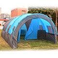 5-8 человек большая палатка водонепроницаемый холст стекловолокно семья туннель 10 человек палатки оборудование открытый альпинизм Вечерни...