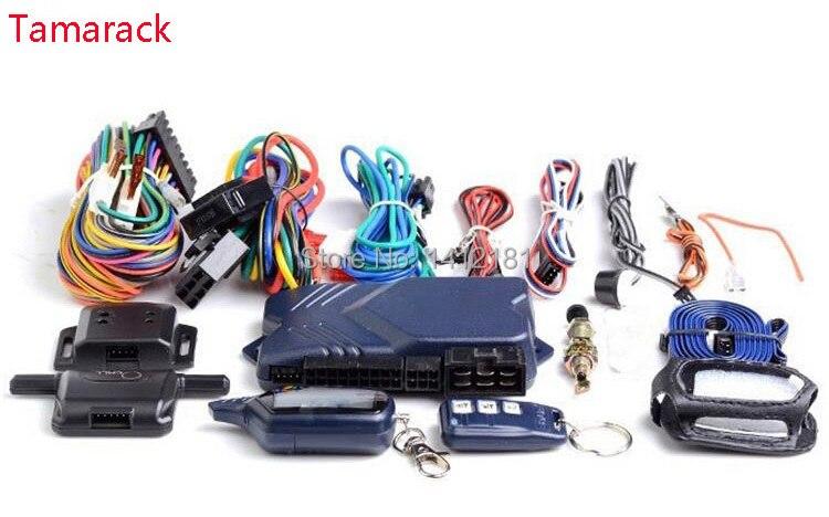 Tamarack Seulement Pour Russe Starline Twage B9 2 Façon alarme de voiture Système + Démarrage Du Moteur LCD clé de contrôle à distance porte-clés StarLine B 9