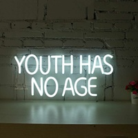 Youth Has No Age Neon Sign LED Tube Lamp Visual Artwork Bar Pub Club Wall Decor Light Board Home Office Decoration 100 240V