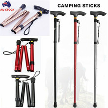 Casual Antishock Replacement Trekking Walking Hiking Stick Ultralight Pole 4-section Easy Adjustable Folding