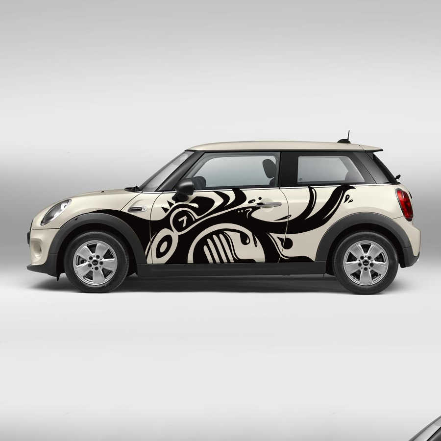 2pc Side Door Vinyl Car Modified Accessories Sticker Customize For Mini Cooper Countryman Clubman Paceman R56