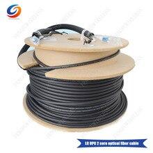 Wholesale 100M LC UPC Fiber Optic Patch Cord 2 core optical fiber cable Duplex Field Fiber cable for base station
