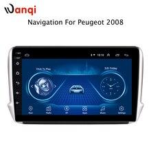 10,1 дюймов Android 8,1 Автомобильный gps Мультимедиа для peugeot 2008 2014-2018 навигационный плеер с радио Bluetooth зеркальная поверхность подключение