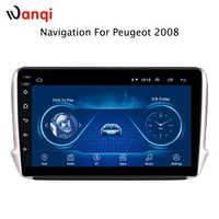 2.5D bildschirm Android 8.1 Auto GPS Multimedia Für Peugeot 2008 AUTO DVD Player 2014 2015 2016 2017 2018 mit Radio Bluetooth