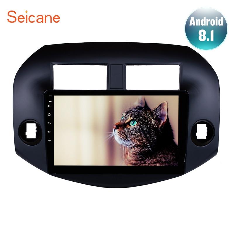 Lecteur multimédia Seicane Android 8.1 2Din autoradio GPS 10.1 pouces pour 2007 2008 2009 2010 2011 Toyota RAV4 Auto stéréo USB Wifi