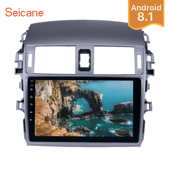 "Seicane 2Din Android 8.1 9"" Car Radio Wifi 4-Core 1+16G Multimedia Player For 2007 2008 2009 2010 Toyota OLD Corolla Head Unit"