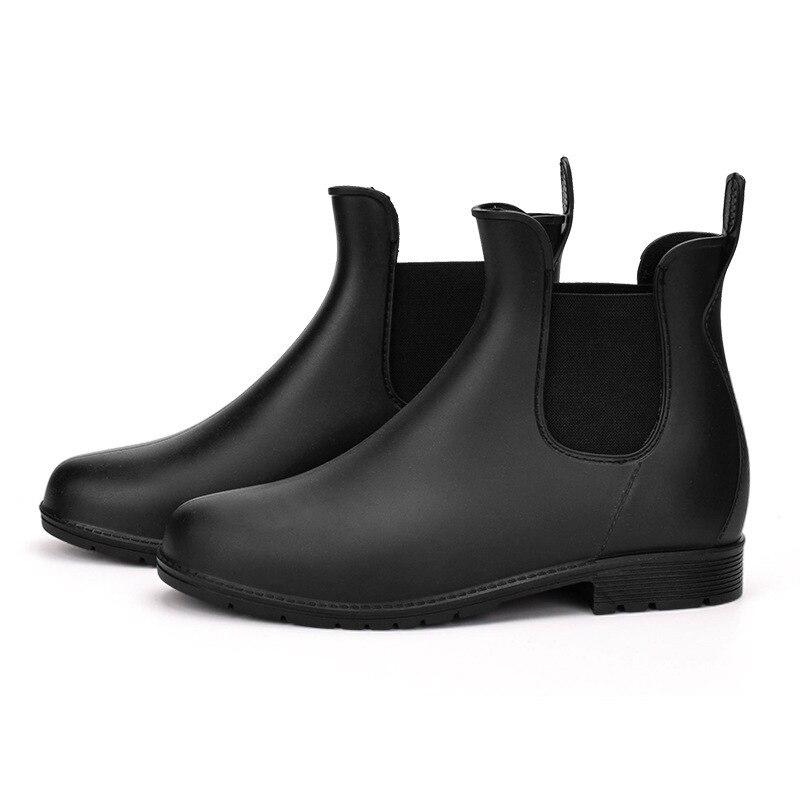 2018 Pvc cheville vente directe réel Botas Bota Feminina bottes hautes mode étoile quatre bas tempérament Martin bottes chaussures d'eau