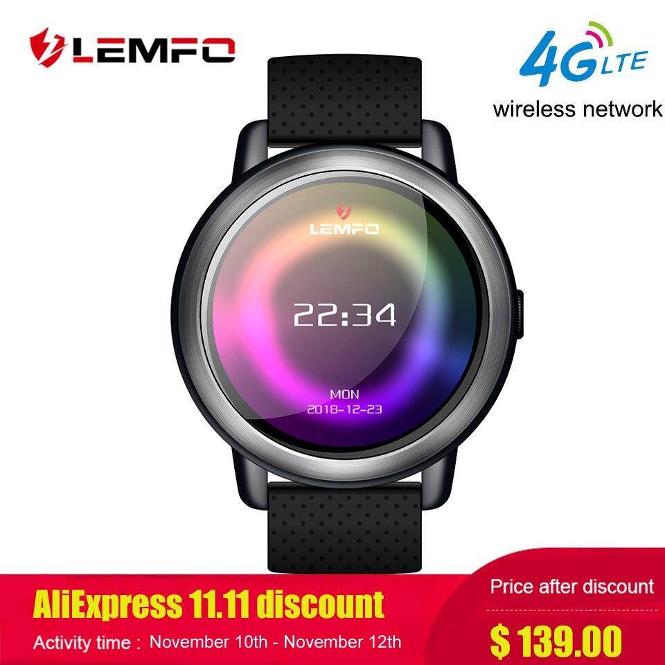 LEMFO LEM8 Relógio Inteligente Android 7.1 LTE 4g Sim WI-FI 1.39 Câmera GPS Freqüência Cardíaca 2MP Polegada IP67 À Prova D' Água smartwatch para Mulheres Dos Homens