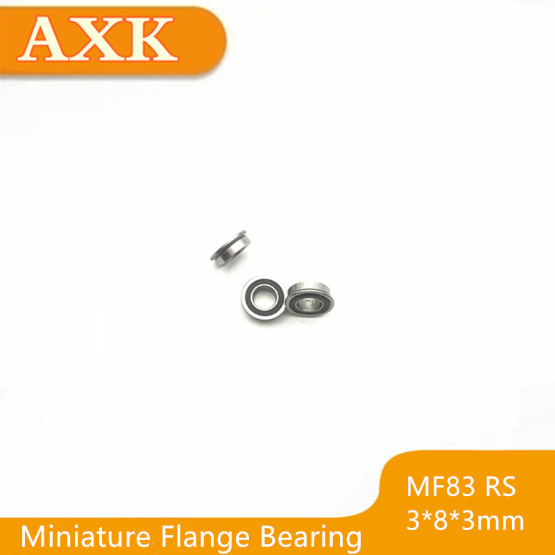 2019 Limited Hot Free Shipping Mf83 2rs Bearing 3x8x3mm 10 Pcs Abec 1 Miniature Flanged Mf83rs Ball Bearings Rf 830dd in Bearings from Home Improvement