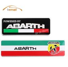 цена на 10pcs 3D 3M ABARTH Aluminum Emblem Badge Creative Stickers Car Styling For Fiat Abarth Viaggio Punto 124 125 500 695 Stickers