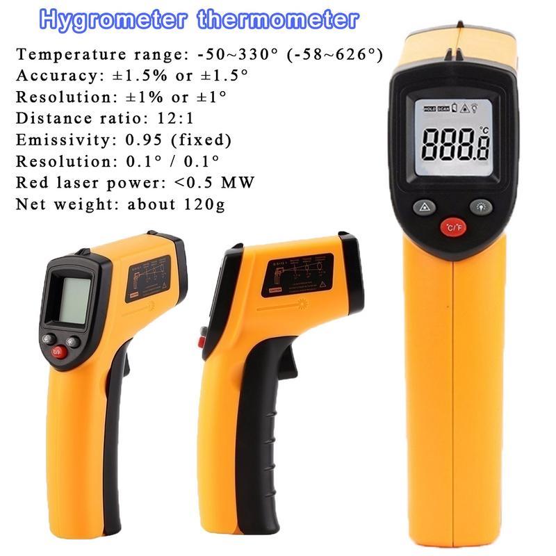 Digital portátil LCD sin contacto de temperatura pistola GM320 láser IR termómetro infrarrojo punto 50 ~ 380 grados