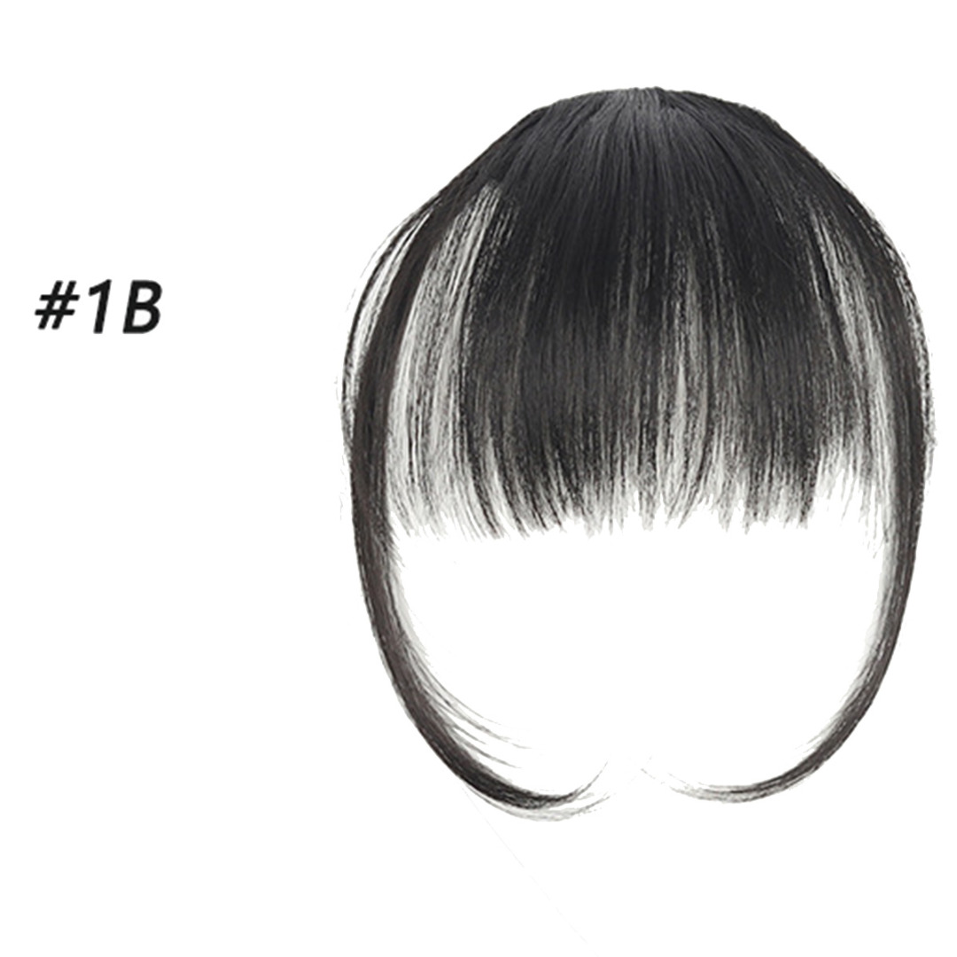 4 Color Unique Hair Extensions Womens Thin Air Fringe Bangs False Fake Hair Extension Clip On Front Hairpiece