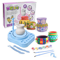 Electronic Pottery Studio Playset Kids Play Clay Art Crafts DIY Creative Educational Toy