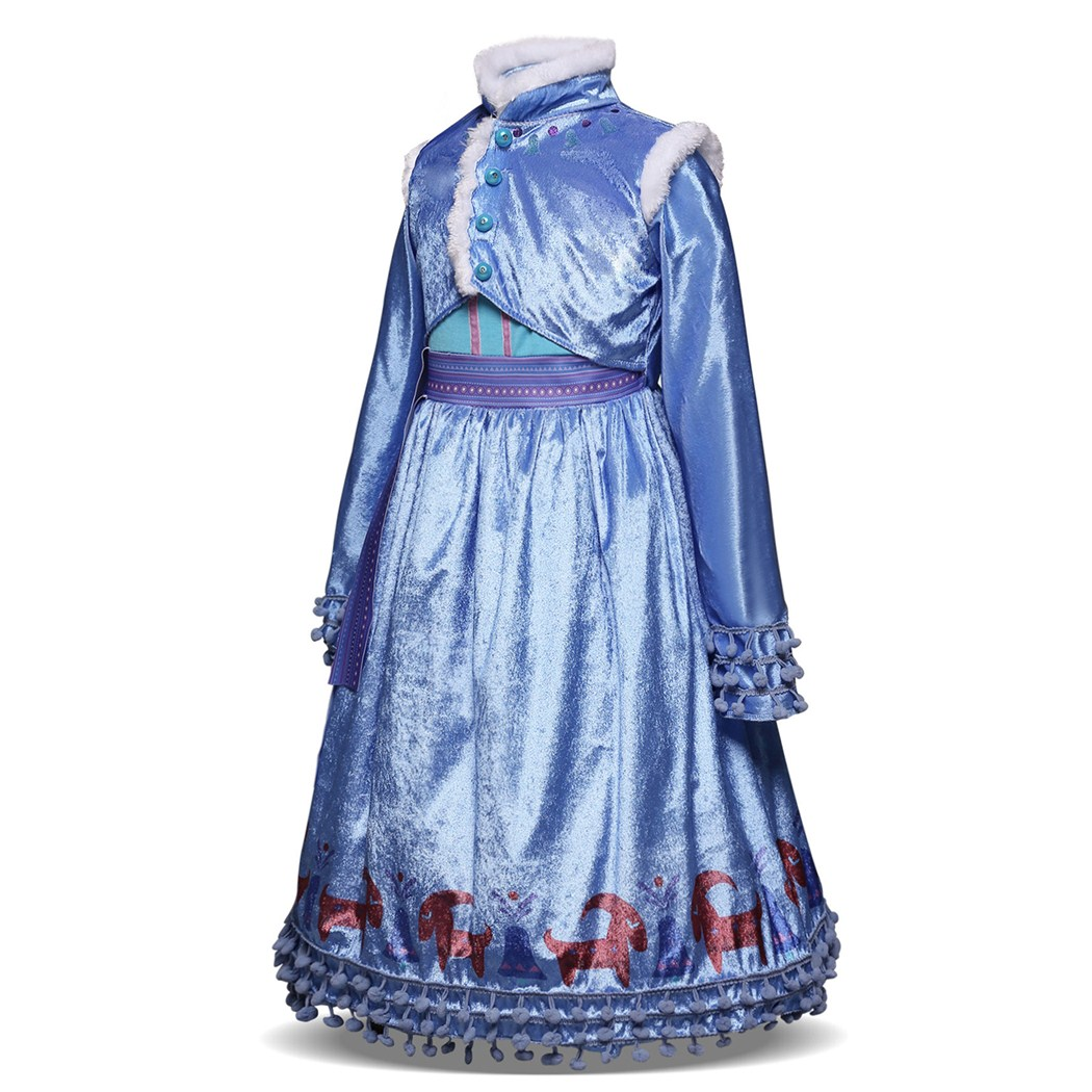 AmzBarley Girls Dress Winter clothes Anna Elsa Princess Costume Children Long Sleeve Halloween Birthday Party Cosplay Outfits in Dresses from Mother Kids