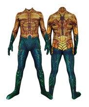 Movie Aquaman Cosplay Costume Superhero Arthur Curry Orin Zentai Bodysuit Suit Jumpsuits halloween costume for kids