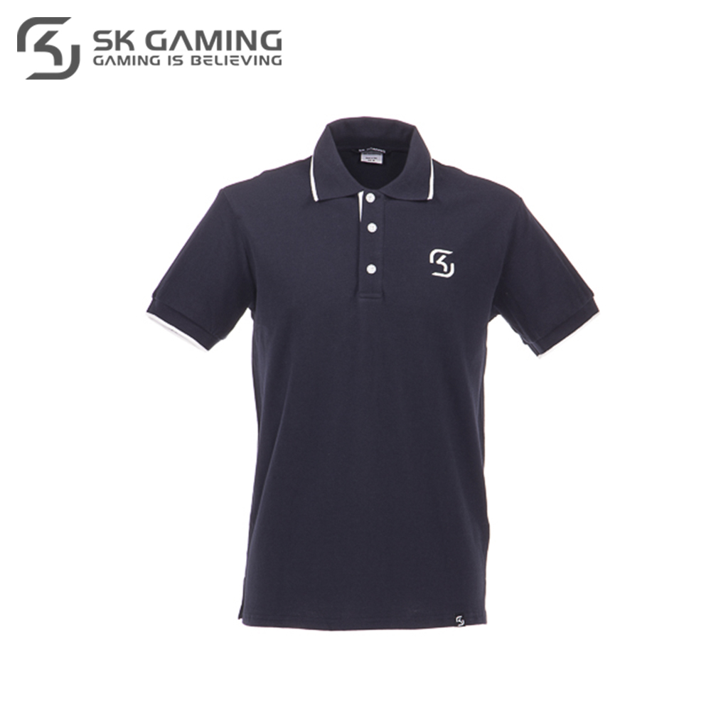 Polo Shirts SK Gaming FSKPOLOSH17BL0000 clothes for men clothing mens brand Tops Tees Cotton Casual League of legends esports new arrival 2017 polo fashion men bags casual leather messenger bag high quality man brand business bag men s handbag