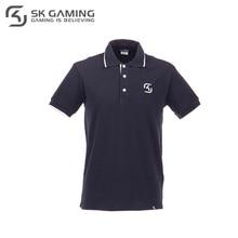 Поло SK Gaming мужское синее из хлопка