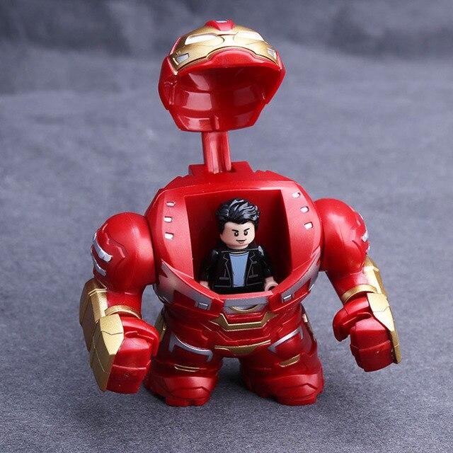 מארוול נוקמי סוף המשחק סופר גיבורי Hulkbuster ברזל איש תאנסו Mech רובוט דגם דמויות איסוף צעצועים לילדים מתנות