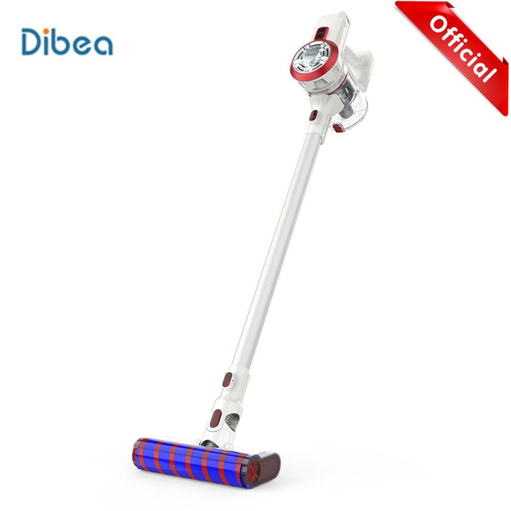 Dibea V008 Pro 2-Em-1 Handheld Aspirador de pó Sem Fio Forte Sucção A Vácuo Aspirador de Pó Pó de Baixo Ruído coletor Aspirador