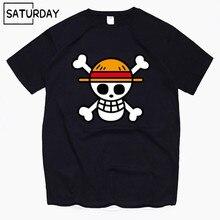 Men's One Piece Luffy Harajuku Funny Cotton T Shirts Unisex Summer Cotton Workout Tshirts Anime Tops Boyfriend Gift