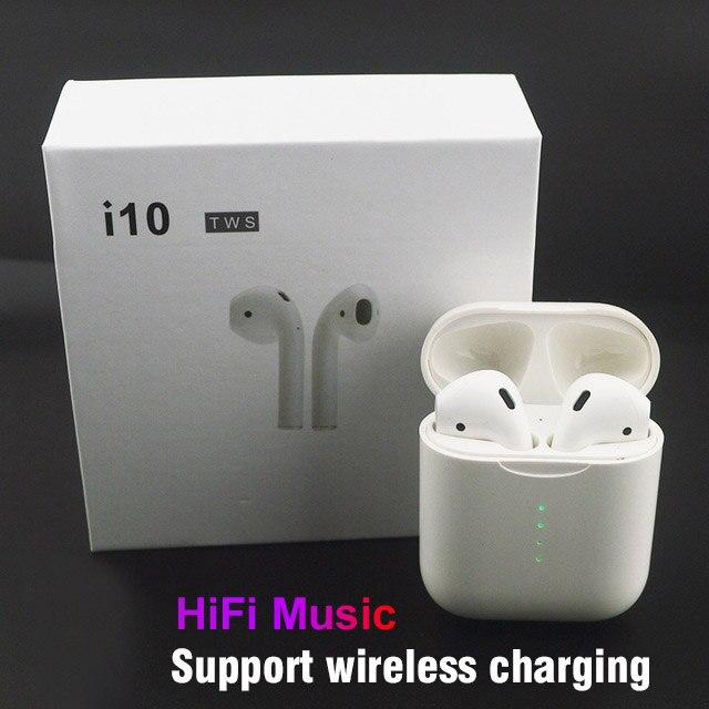 I10 tws dans l'oreille Bluetooth écouteurs sans fil écouteurs tactile sans fil charge écouteurs i9s tws i7s mise à niveau casque pour iphone mi