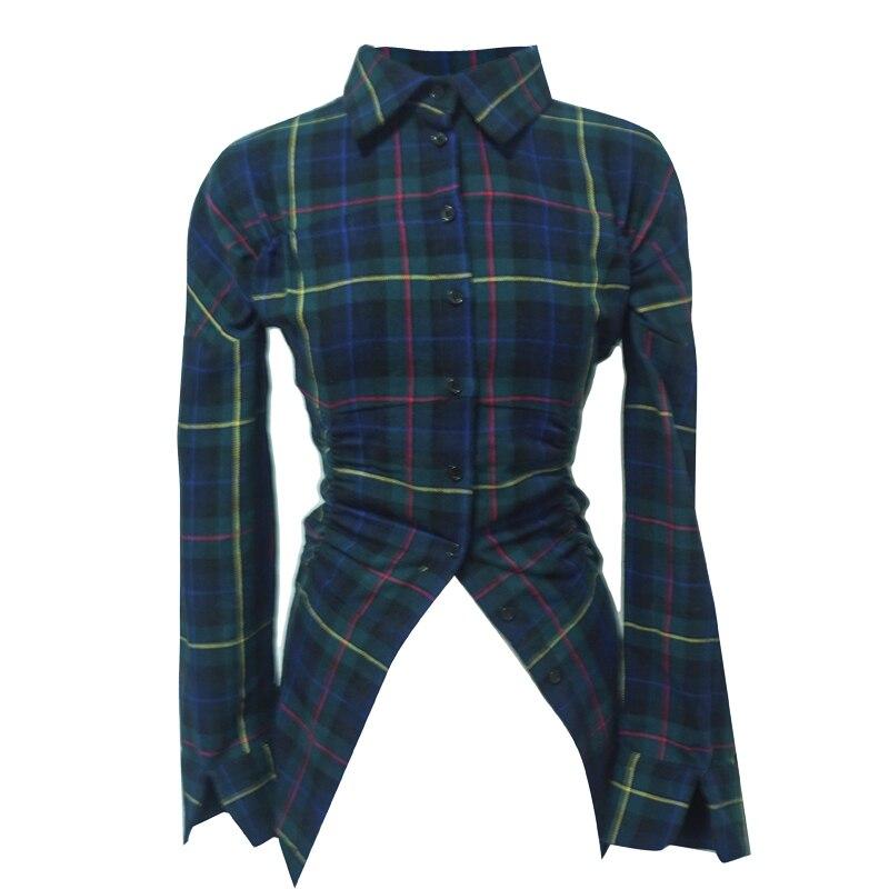 Unique Lanmrem Femmes Ligne Noir Angleterre 2019 Nouveau As Wd25706m Printemps Chemise Vert Classique Vêtements Picture Laine Porter Coton Janpan Styles SwSFr8