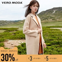 Vero Moda Brand 2018 NEW winter loose wool off shoulder lapel single breasted solid color female over jacket coats |317327525