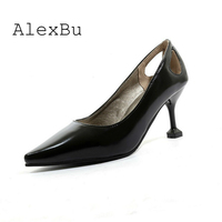 AlexBu Pumps Woman 2019 Woman Thin High Heel Shoes Pointed Toe Wedding Shoe Autumn Dress Party Shoes Slingbacks Dropshipping