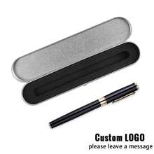 Creative Writing Supplies Lettering Logo Metal Signature Pen Business Gel With A Box For Kids Gift Record Wonderful Life