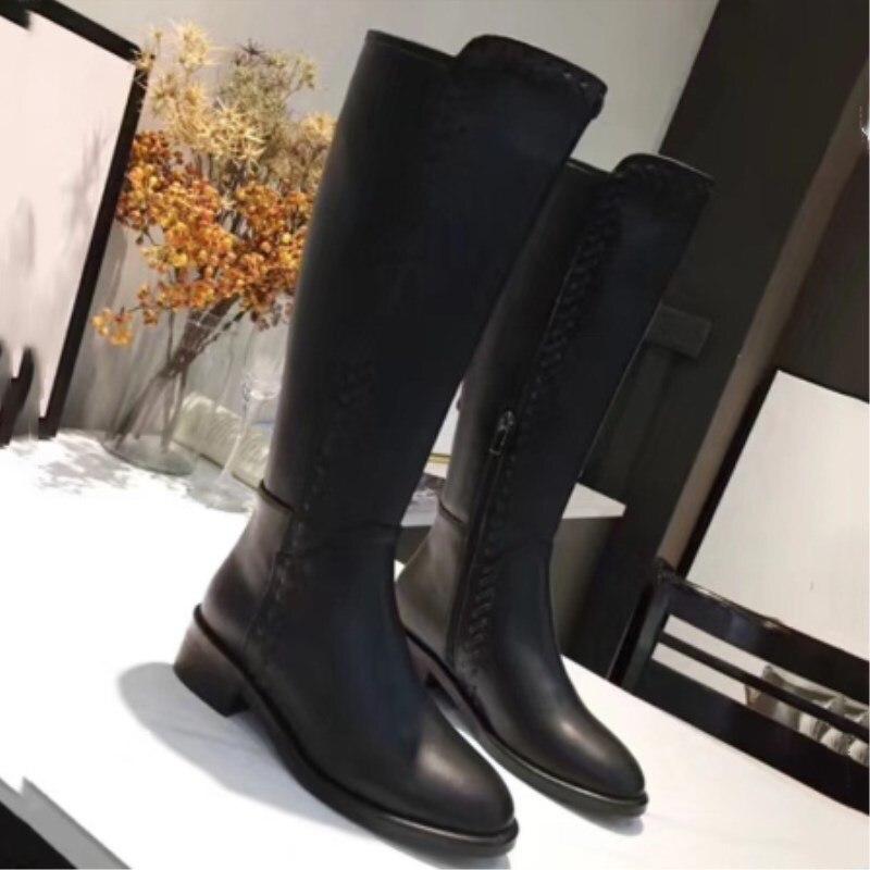 Chaud Chaussures Femmes Designer Custom Noir Luxe Cuir As De Bottes D'hiver En Cuisse Hautes Sexy Show Hauts Talons qHUwFnB