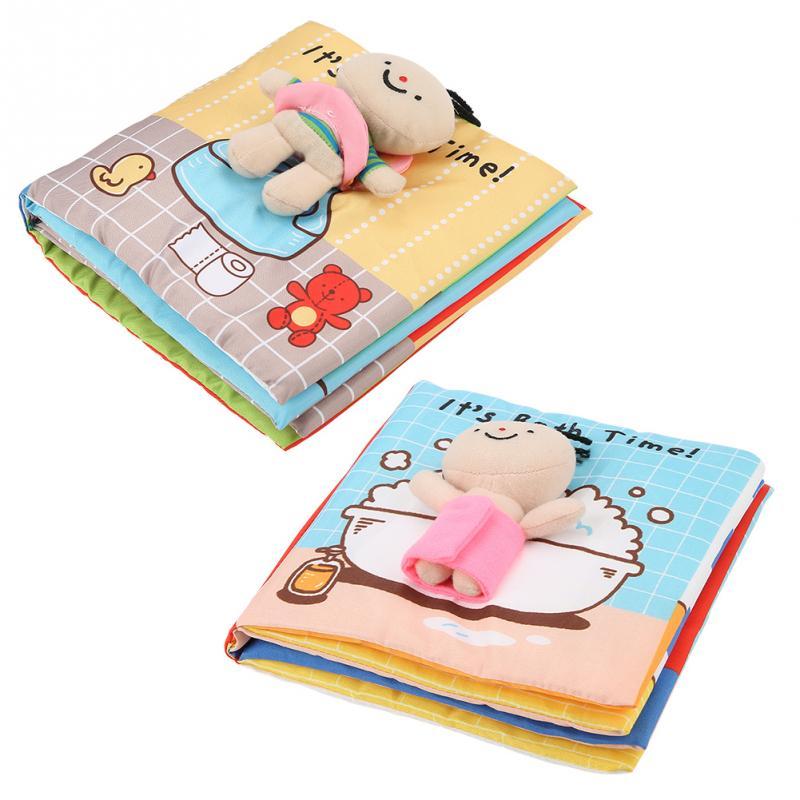 Book-Interactive-Books Soft-Cloth-Book Development Bath Quiet Educational Baby Children