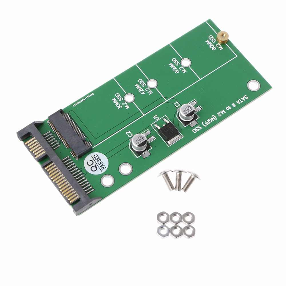 Ngff (M2) ssd 2.5 インチ Sata アダプタ M.2 Ngff Ssd Sata3 変換カードアダプタカード 30/42/ 60/80 ミリメートル M.2 Ssd ハードドライブ
