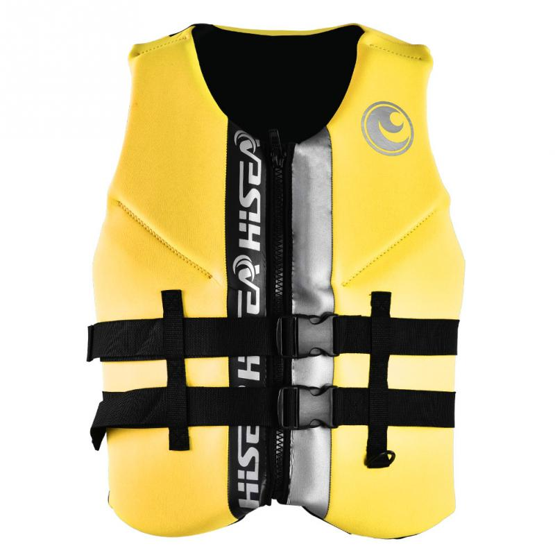 HISEA Life Jacket Buoyancy Waistcoat Lifesaving Vest EPE Cotton Adult Life Vest Swimming Safety Survival Life
