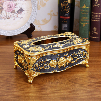 Elegant Tissue Box for Paper Towel Gold Silver Storage Boxes Container Napkins Holder Case Organizer Home Hotel Bar Car Supplies