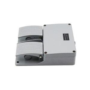 Image 2 - מתג רגל YDT1 16 אלומיניום מעטפת אפור כפול דוושת מתג מכונה כלי אביזרי מתג